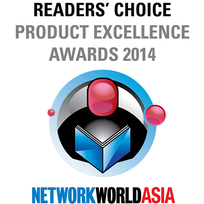 NetworkWorld Asia Readers' Choice Product Excellence Award 2014